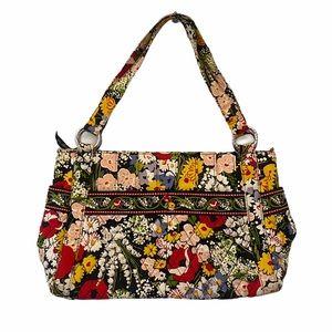 Vera Bradley Quilted Floral Tote Shoulder Handbag